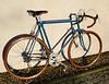 Bianchi Stahlrenner (Zeitenwende) Tags: columbus bicycle azure aelle bici fahrrad brooks bianchi roadbike campagnolo rennrad fizik kmc racingbicycle diacompe racefiets 3ttt rennvelo azurblau gillesberthoud ofmega brooksswift veloorange mkssylvan velodecourse schwalbedurano universalsoundbell ral5009 modolocorsa