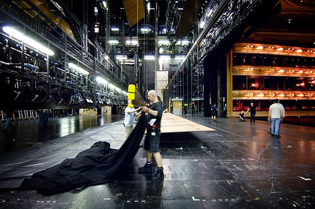 Backstage at the Royal Opera House © Rob Moore/ROH 2007