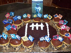 Football Cake and Cupcakes
