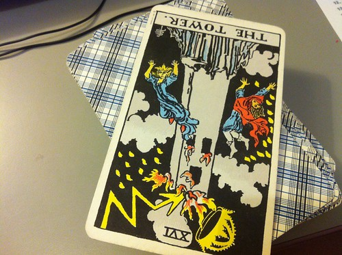 1 card #tarot, the tower. Though you may feel shaken or chaotic, you ca