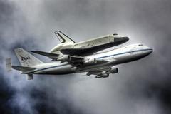 Shuttle Enterprise (Tim Drivas) Tags: nyc newyorkcity newyork airplane sca nasa shuttle spaceshuttle boeing747 hdr flyover shuttleenterprise