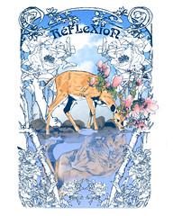 Rflexion (kooky love) Tags: reflection river lion deer artnouveau watersurface lafraise