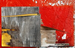 Miami Abstract Collage on Red (MY PINK SOAPBOX) Tags: wood old nyc newyorkcity red urban orange abstract colour rot pasteup art colors yellow collage wall rouge pared rojo nikon colorful peeling arte artistic miami decay mixedmedia urbandecay graf banksy vivid colores urbanart amarillo artsy passion urbano gothamist graffito gotham abstracto astratto weatheredwood rood rosso grafity roto pasteups pasion abstrait arteurbano mbw patched streetcalligraphy digitalcameraclub abstractphotography interestingwall artisticshot abstraite peelingwall mrbrainwash anahidecanio bocaratonmuseumofart exitthroughthegiftshop bocaratonmuseumartistsguild thehypotheticalawards abstraitre howtomakeit mrbrainswash anahidecaniostreetart artyzenstudios