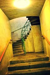 Walking Underground in Berlin (Blue Rave) Tags: 2012 germany europa deutschland europe berlin stairs underground siegessäule victorycolumn vanishingpoint pathway tunnel stairway path curve staircase steps