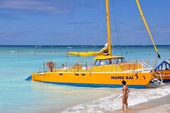 Waikiki, Oahu, HI (D-A-O 1 Million Views! Thank you!) Tags: ocean morning light usa colour beach sailboat america hawaii sand nikon village pacific waikiki oahu united azure hilton lagoon catamaran hawaiian hi honolulu states d90