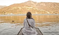 Serenity (Zainab AlS) Tags: lake water canon austria europe ducks kuwait gcc 550 mountaine