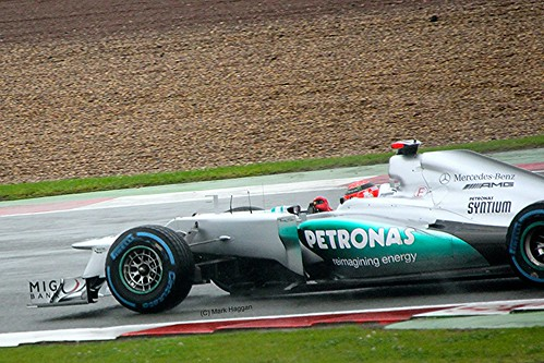 Michael Schumacher in Silverstone