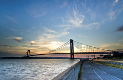 Nature does nothing in vain... (FerPecT_sHotz) Tags: sunset summer bike atlanticocean verrazanobridge diamondback verrazanonarrows beltparkway shoreparkwaygreenway