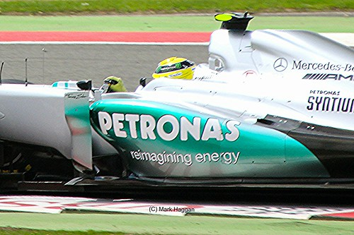 Nico Rosberg in his Mercedes at the 2012 British Grand Prix at Silverstone