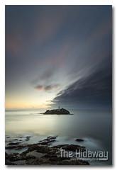 Godrevy sky (Simon Bone Photography) Tags: sea sky cloud sun lighthouse reflection silhouette island cornwall godrevy cornishcoast canon1740mmlf4 cornishsunsets wwwthehidawaycouk canoneos7d hitechnd09reversegrad