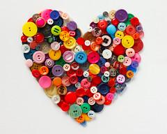 heart (Meshl) Tags: cute love vintage heart button romantic multicolored