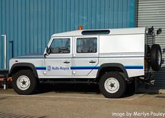 Rolls Royce Land Rover Defender (merlyn.pauley) Tags: airport heathrow rollsroyce landrover defender