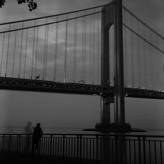 (Barry Yanowitz) Tags: nyc newyorkcity longexposure bridge blackandwhite bw ny newyork 6x6 film brooklyn mediumformat blackwhite fuji bridges 120film d76 scanned filmcamera verrazanobridge bayridge nycity verrazanonarrowsbridge selfdeveloped 718 rolleiflexmxevs fujineopanacros100 selfdeveloping d76developer