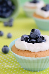 Cupcakes with blueberries (dhmig) Tags: italy stilllife food macro green closeup fruit dessert cupcakes healthy nikon cream naturallight sugar delicious blueberry cupcake butter sweets icing treat temptation sweetness frosting greed gluttony pois delicacy foodphotography 50mmf28 softcolors softcolours softgreen cupcakefrosting siliconebakingcups healthytreat nikond7000 dhmig dhmigphotography cakesdecoration
