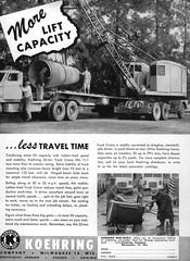 Publicité pour grue mobile Koehring de 25t - Add for Koehring 25t truck crane  I (PLEIN CIEL) Tags: koehring truckcrane gruemobile