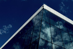 Reflections - Oslo Opera (+PeterCH51+) Tags: light sky house building window oslo norway architecture clouds reflections opera scandinavia northerneurope nordiclight osloopera scandinavianlight peterch51