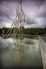 weird thing (BarryKelly) Tags: statue fountian refelection