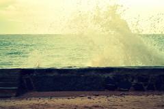Splash (Dina Might) Tags: blue sea sky beach water buildings concrete wave splash
