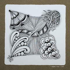 corners (shebicycles) Tags: monochrome pen pencil tile square doodle zentangle