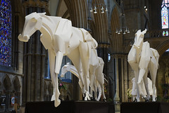 Olympic Horses (Richard Sweeney) Tags: sculpture horse art paper craft sweeney