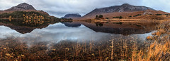 Still morning at Loch Clair - panorama (KennethVerburg.nl) Tags: uk greatbritain autumn panorama lake fall landscape scotland meer unitedkingdom loch 2012 landschap torridon schotland grootbrittannie lochclair verenigdkoninkrijk