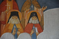 Optina Fathers Fresco in Progress 45 (St. Gregory of Sinai Monastery Workshop) Tags: fresco