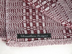 keep it simple towel maroon label (lizbuppers) Tags: it cotton keep towels simple 2012 handwoven orlec