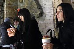chelsea girls at lunch (omoo) Tags: newyorkcity chelsea manhattan streetscene hallway foodcourt prettygirls carrotjuice girlwithcellphone soupforlunch dscn7684 girlwithsoup formernabiscofactory chelseamarkert girlsgirlsatlunch carrotjuiceandcellphone stoneartworks