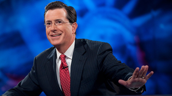 Stephen Colbert Is CBS' Top Choice to Succeed Letterman, and He's Into It