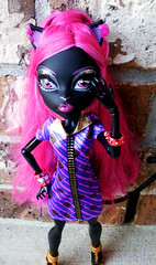 Catty In New Clothes (MistrallaMilky) Tags: black cute fashion monster cat high doll noir freaky we friday fabulous 13th mattel collector catty