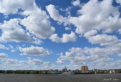 city of clouds (David Sebben) Tags: clouds buildings river mississippi iowa davenport
