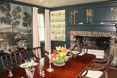 Ladew Manor House ~ dining room (karma (Karen)) Tags: china art candles chairs maryland tables monkton estates manorhouse historichomes ladewtopiarygardens diningrooms hearths mantles harfordco