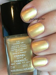 Chanel Chaine Or (purple yellow) Tags: or nail polish chanel chaine 518