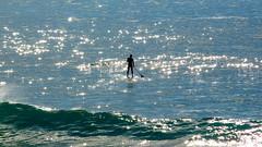 El cazador de olas... (Leo ) Tags: luz mar agua corua surf surfer playa galicia silueta olas brillos surfista ocanoatlntico arteixo repibelo