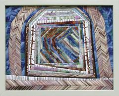 Shelter (ginhollow) Tags: art crazy quilt foundation mounted fiber pieced