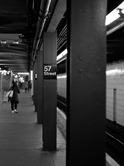 57 Street (Carl Hall Photography) Tags: nyc newyorkcity newyork mediumformat underground subway bronica ilford fp4 ilfordfp4 57street bronicaetrs catfilm broncia75mmeii