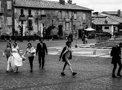 Just married (DanieleS.) Tags: street travel wedding people bw white black primavera wow photography mono bride photo spring amazing cool married shot good great monochromatic bn just dannyboy bianco nero daniele sposi orvieto salutari ilovedannyboy