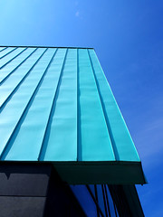 Blue on blue two (ccgd) Tags: abstract building campus scotland an inverness hie lochran