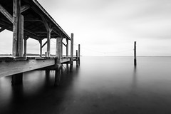 Smooth Dock (Austin Zveare) Tags: white black water modern contrast neck virginia high key rocks long exposure angle wide smooth overcast northern