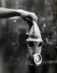 16x20 DIY Gas Mask Test (Kenneth Kohl) Tags: mask large diy art format film fine rc 16x20 bw negative paper monochrome multigrade hand gas camera black creepy test ilford analog white