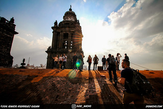 Mexico City Cathedral Rooftop chilling