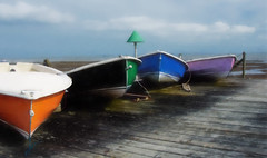 Row, row, row your boat... (Sarah Fraser63) Tags: blue red england colour green coast boat purple southend