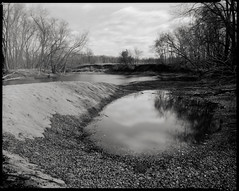 Down by the River (koni-omegaman) Tags: film minnesota river kodak minneapolis pinhole 8x10 photograph xray scanned crow mn largeformat pinholephotography crowriver 16secondexposure caffenolc 202mm scottstillman 6mmpinhole singleemulsion