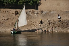 River of Life (Nick WB Dawson) Tags: people river village nile washing villagers felucca egyptians rivernile