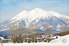 Iwaki Mountain in Winter (Hirosaki Japan).  Glenn Waters. (Glenn Waters in Japan.) Tags: winter mountain snow volcano nikon   iwaki    d700 nikond700  glennwaters