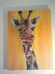 Paul the Second (MonicaHHeck) Tags: giraffe childrensart irishart babyanimal babygiraffe cutegiraffe acrylicgiraffeanimalzoogiraffeheadbabygiraffeirishartchildrensart