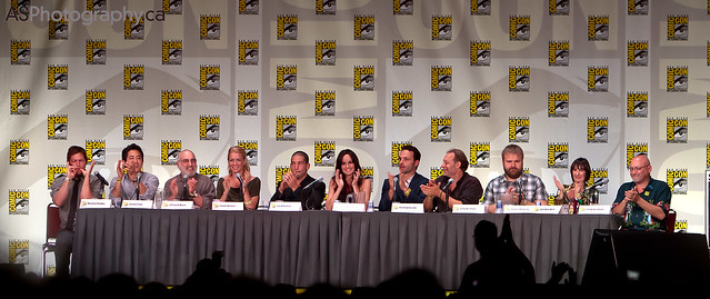 Walking dead panel at San Diego Comic Con 2011