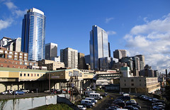 Sunny in Seattle (CNorth2) Tags: seattle travel autumn usa fall skyline canon buildings washington downtown place market united sunny powershot states pike g11