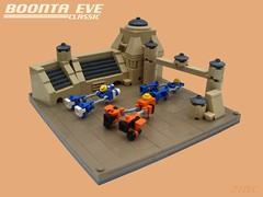 The Boonta Eve Classic (2 Much Caffeine) Tags: starwars lego fb tw tatooine moc podrace podracing microscale boontaeve