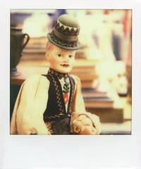 klaus (davebias) Tags: nyc polaroid sx70 doll fleamarket impossible castaways px70
